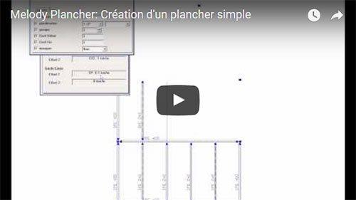 Melody Plancher: Création d'un plancher simple