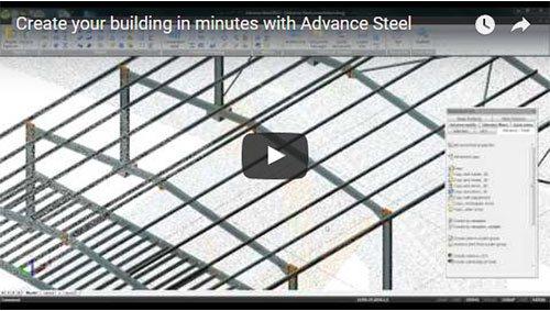 Créer votre bâtiment en quelques minutes avec Advance Steel