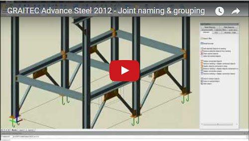 NOUVEAU - Advance Steel 2012 - Groupement des connexions identiques
