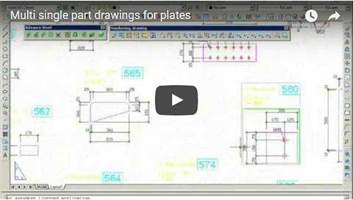 Plan composé de plans de débit de plats