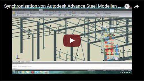 Synchronisation d'un modèle Advance Steel avec Advance Design