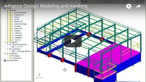 Advance Design : Modélisation et maillage