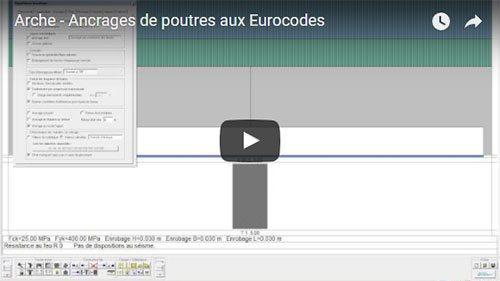Arche - Ancrages de poutres aux Eurocodes