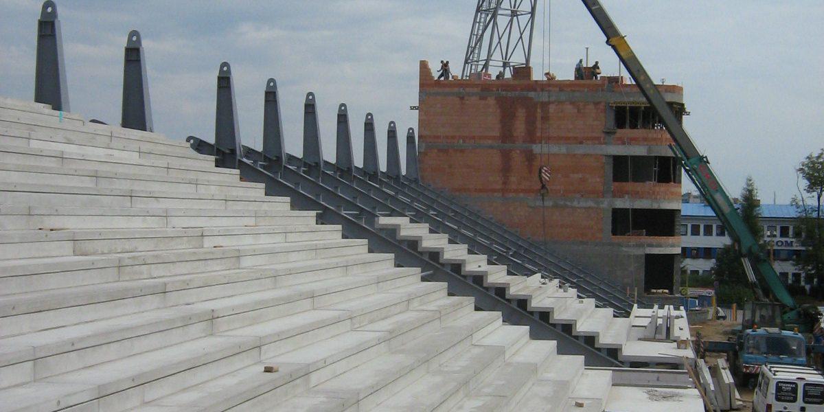 Restauration et construction du stade de football à Jihlava Jihlava, République Tchèque