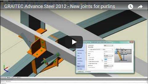 NOUVEAU - Advance Steel 2012 - Nouveaux assemblages automatiques pour pannes