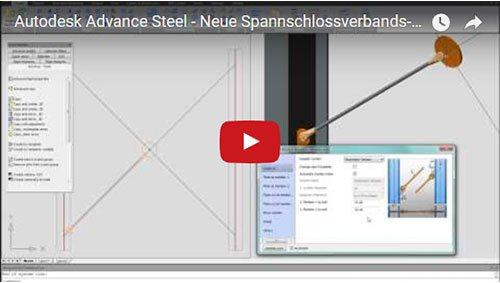 NOUVEAU - Advance Steel 2012 - Nouvelles macros pour tendeur de câbles