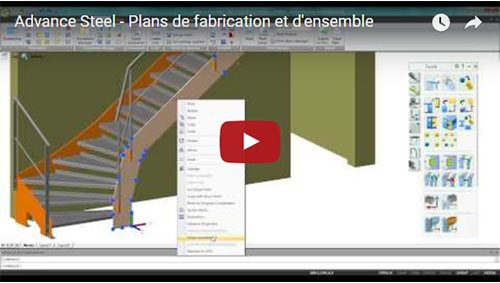 Advance Steel - Plans de fabrication et d'ensemble