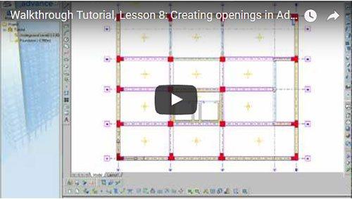 Description Générale, 8ème leçon: Création d'ouvertures