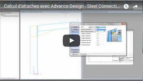 Calcul d'attaches avec Advance Design - Steel Connection
