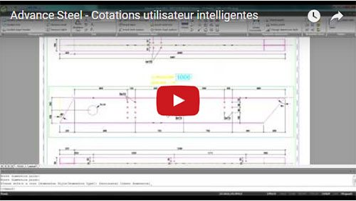 Advance Steel - Cotations utilisateur intelligentes