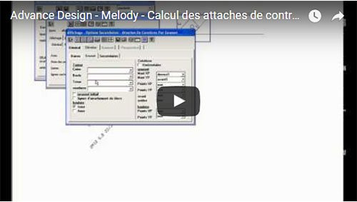 Calcul des attaches de contreventement