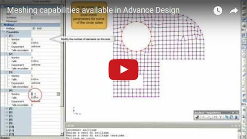 Possibilités des mailleurs de Advance Design