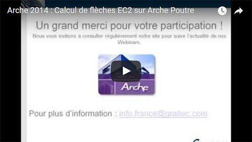 Arche 2014 : Calcul de flèches EC2 sur Arche Poutre