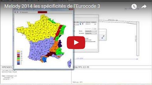 Calcul aux Eurocodes dans Melody Portique