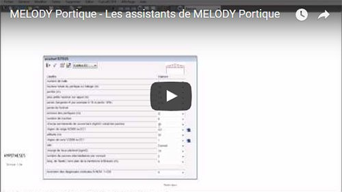 MELODY Portique - Les assistants de MELODY Portique