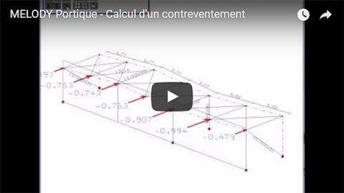 MELODY Portique - Calcul d'un contreventement