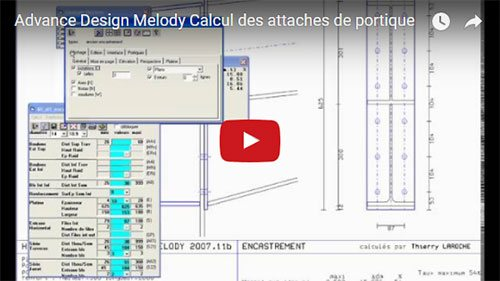 Calcul des attaches de portique