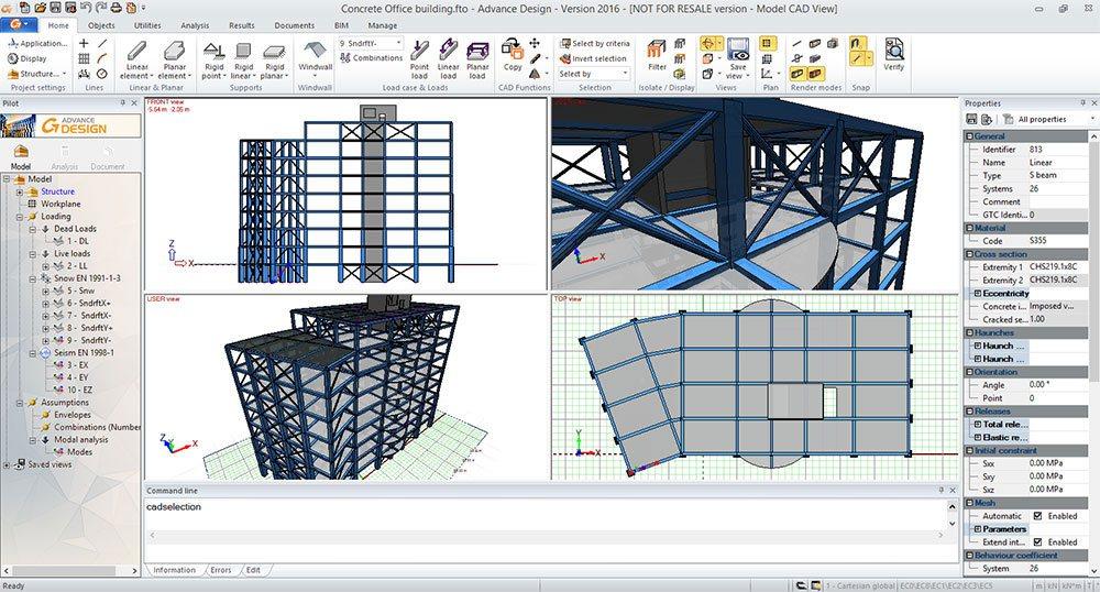 GRAITEC Advance Design | Modélisation rapide et facile
