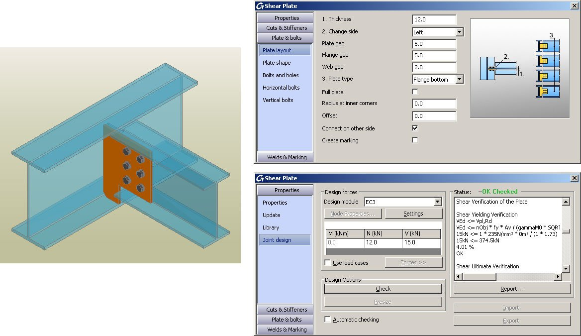 GRAITEC Autodesk Advance Steel | Calcul des assemblages selon l'Eurocode 3