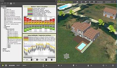 GRAITEC ArchiWIZARD | Aide à la conception bioclimatique et simulation énergétique en temps réel