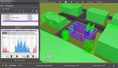 GRAITEC ArchiWIZARD | Simulation Thermique Dynamique depuis la maquette 3D avec EnergyPlus