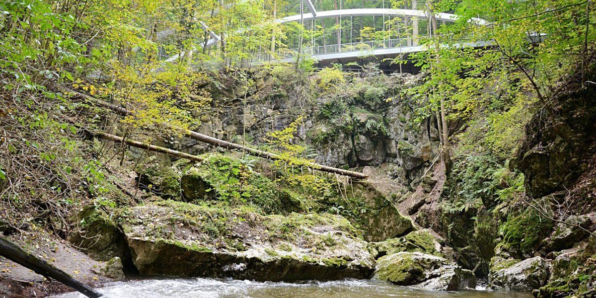 Pont dans le Karst Moravien Pres de Holštejn