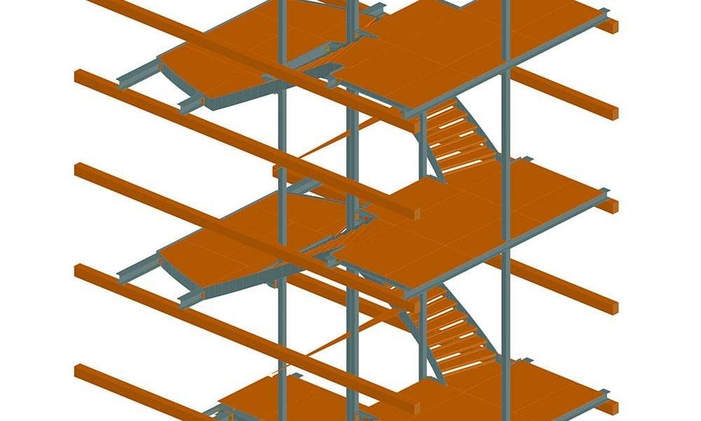 Escalier d'accès cintré